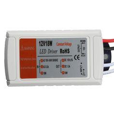 Alta calidad DC 12 V 18 W controlador de alimentación LED transformador adaptador de interruptor de tira de LED llevó la bombilla