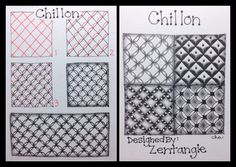 Zentangle® : Tangle Pattern : Chillon | Flickr - Photo Sharing!
