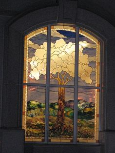 San Antonio, TX LDS Temple - tree of life stained glass window Mormon Temples, Lds Temples, Ancient Greek Architecture, Gothic Architecture, Stained Glass Art, Mosaic Glass, Temple Glass, Temple Pictures, Lds Art