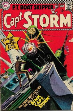 Comic Covers, Superman Family, War Comics, Silver Age, Cover Art, Vines, Battle, Boat, Military