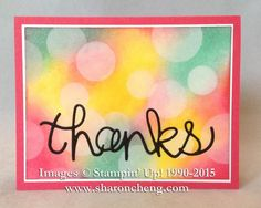 INK: Strawberry Slush; Coastal Cabana; Daffodil Delight   Easy Bokeh Background by ccc - Cards and Paper Crafts at Splitcoaststampers