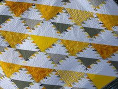 Quilt Story: Yellow and Grey Lady of the Lake Quilt...