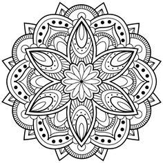 Mandala Coloring Pages for Children. 30 Mandala Coloring Pages for Children. Mandalas to Color for Kids Mandalas Kids Coloring Pages Mandala Art, Image Mandala, Mandalas Painting, Mandalas Drawing, Flower Mandala, Mandala Pattern, Zentangle Patterns, Easy Mandala, Mandala Motif