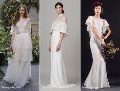 Пролет 2017 Bridal Fashion Тенденции: Сватбени рокли с носовете & Capelets