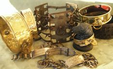 antique dog collars   Antique German Spiked Dog Collar For Sale   Antiques.com   Classifieds