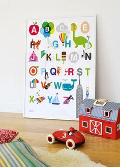 alphabet wall art, Showler and Showler,