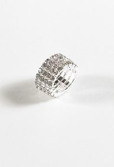 Jewelry - 4 Row Stretch Rhinestone Ring from Camille La Vie and Group USA