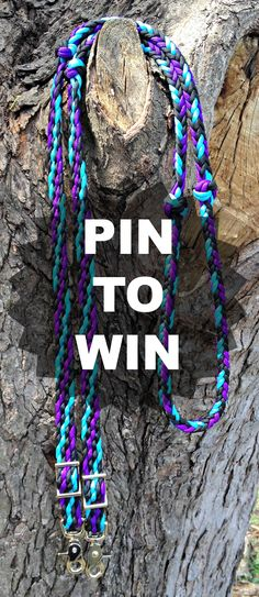 RE-PIN and FOLLOW @justdandybeau for a chance to WIN Custom Braided Paracord Reins #horse #equestrian #horselover #giveaway