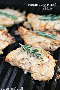 Rosemary Ranch Grilled Chicken Recipe on SixSistersStuff.com - seriously the best grilled chicken ever!