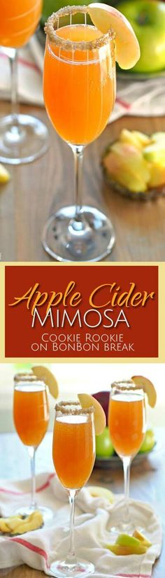 Apple Cider Mimosas are a perfect excuse for organizing brunch with friends. Why not, right? Happy fall!