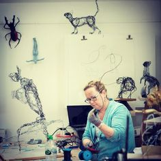 Still spaces on next week's Wire & Mixed Media Sculpture with James Ort at the #phoenixstudiotowersey .27/28th July. Visit the studio website for more details. #wiresculpture #wire #artclass #workshop #creativity