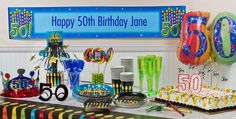 Great 50th Birthday Party Supplies - Party City