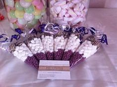 6 x Pre Filled Sweet Cones * Party Bag Favour * Wedding Favour * Candy Cart Candy Wedding Favors, Party Favours, Marshmallow Tree, Personalised Favours, Sweetie Cones, Pink Candy Buffet, Chocolate Cone, Sweet Hampers, Candy Cone