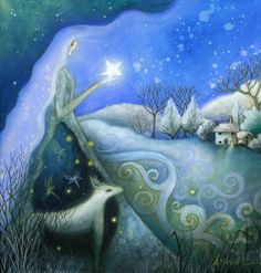 LOVE this. Want it as a mural on my wall :)  A fairytale art print    'Winter's Dream' by earthangelsarts