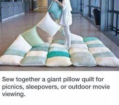 Giant pillow quilt (Best out of Waste on facebook l