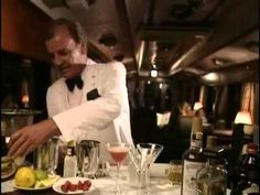 Keith Floyd makes a strawberry cocktail