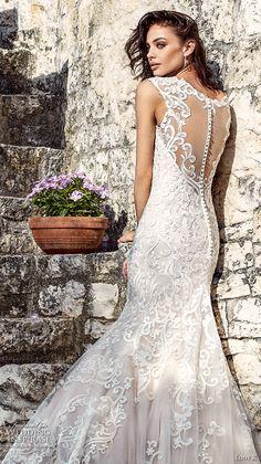 eddy k 2018 bridal cap sleeves v neck full embellishment elegant fit and flare wedding dress sheer back chapel train (flavia) zbv -- Eddy K. Dreams 2018 Wedding Dresses