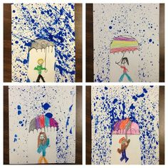 This splatter-paint project is great for integrating art into your study of rain / weather. (Photo Only)
