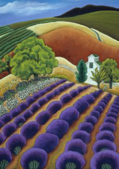 Lavender and Nut Barn ~ Jane Aukshunas. Oil paintings . More lovelies at link.