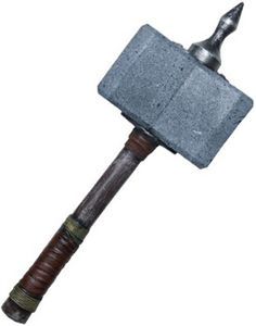 Viking Raider or Barbarian Spiked War Hammer Weapon Barbarian Costume, Thor Costume, Foam Armor, Lethal Weapon, Medieval Weapons, Sword And Sorcery, Metal Projects, Fantasy Weapons, Creature Design