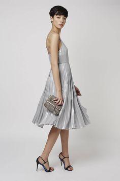 Photo 2 of Plunge Pleated Midi Dress