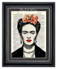 Frida Kahlo Dictionary Art Print Frida Kahlo Print Frida