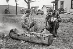 Smoking a Log: 1935