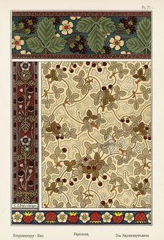 Art Nouveau Pattern, Pattern Art, Eugene Grasset, School Of Visual Arts, Embroidery Motifs, Pottery Sculpture, Floral Illustrations, Antique Prints, French Art