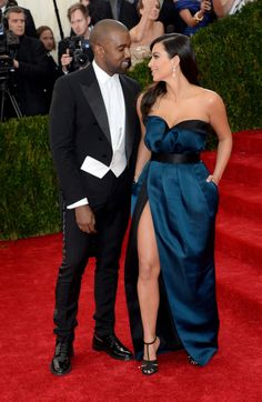 kimkardashianfashionstyle:  May 5, 2014 - Kim Kardashian & Kanye West at the 2014 Met Gala in NYC.