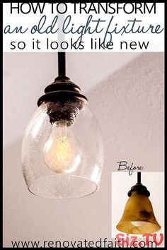 - DIY Light Fixture Updates - These easy light fixture makeovers feature tutorials on how to make a DIY farmhouse chandelier, diy light fixtures for your kitchen, and how to add lantern sconces to your kitchen lighting fixtures. A DIY ch Painting Light Fixtures, Diy Light Fixtures, Farmhouse Light Fixtures, Dining Room Light Fixtures, Farmhouse Chandelier, Kitchen Lighting Fixtures, Farmhouse Lighting, Drum Light Fixture, Ceiling Fixtures