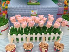 Peppa Party detalle del jardin