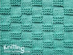 Knitting stitch for beginner. Garter Block stitch
