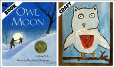 Fun with books with a winter theme: Owl Moon by Jane Yolen.  Love the snowy owl art project by Deep   Space Sparkle that accompanies this story that involves splatter painting and brush drawing.  -tkz