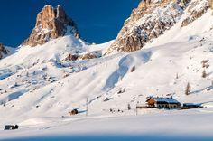 Ristorante Da Aurelio al Giau Mount Everest, Environment, Snow, Mountains, Winter, Nature, Travel, Viajes, Winter Time