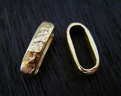 Gold Bronze Textured Artisan Bracelet and by VDIJewelryFindings
