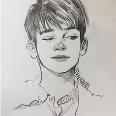 Uplifting Learn To Draw Faces Ideas. Incredible Learn To Draw Faces Ideas. Pencil Art Drawings, Cool Drawings, Drawing Sketches, Sketches Of Boys, Boy Drawing, Drawing Animals, Pretty Art, Cute Art, Arte Sketchbook