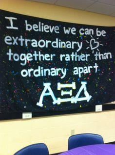 Alpha Xi Delta: Extraordinary together rather than Ordinary apart