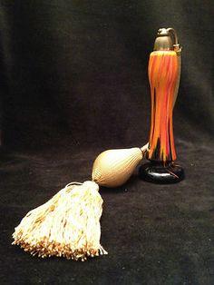 DeVilbiss Orange and Black Atomizer Perfume Bottle | eBay