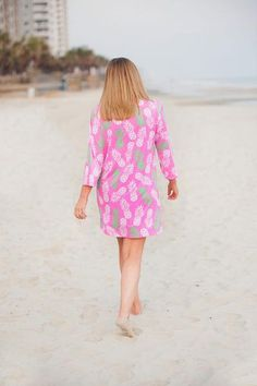 a014a6efeeaee Pineapple of My Eye Monogrammed Tunic Cover-Up - Back in Stock May 2017