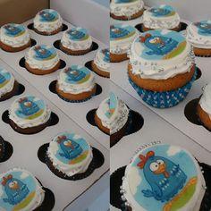 Prontinho para entrega! Cupcake da Galinha Pintadinha! 👸🍰🐔#cupcake #galinhapintadinha #cake #instafood #instapastry #pastry #confeitaria #bolinho #festa #festainfantil #baby #children #criança