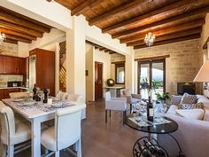 Rethymno villa rental - Fully equipped kitchen, dining and sitting area! Sitting Area, Private Pool, Thalia, Kitchen Dining, Swimming Pools, Bbq, Villa, Home Decor, Living Room