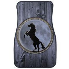 Wild Horse Moon Floor Mat #truck_mat #trucks #horse #mustang #country #horse_gifts #wild_horse #lasso