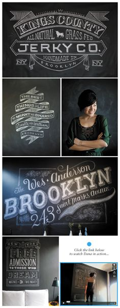 Love this hand-drawn type on a chalkboard