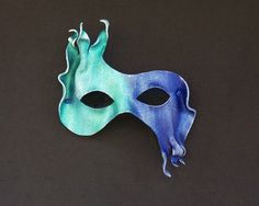 Water Leather Mask by MythicalDesigns on Etsy, $42.00