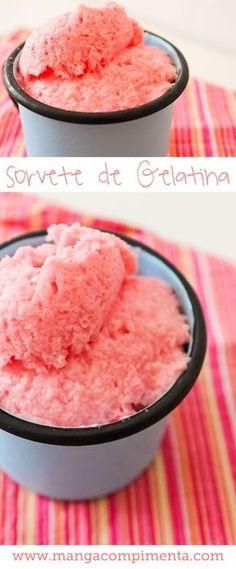 Sorvete de Gelatina | Para refrescar nos dias quentes!