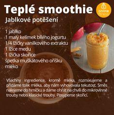 5 teplých smoothies, které ti zpříjemní zimní dny | Blog | Online Fitness Smoothie Recipes, Smoothies, Blog Online, Nutribullet, Food And Drink, Health Fitness, Low Carb, Healthy Recipes, Fruit