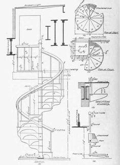Fun Blueprint of Spiral Staircase