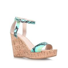 kling blue high heel wedge shoes from Carvela Kurt Geiger