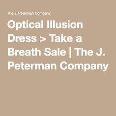 Optical Illusion Dress > Take a Breath Sale | The J. Peterman Company