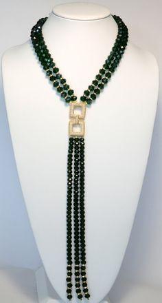 (notitle) The green lovers Diy Jewelry Necklace, Lariat Necklace, Necklace Designs, Beaded Jewelry, Jewelery, Beaded Bracelets, Jewelry Shop, Stylish Jewelry, Fashion Jewelry